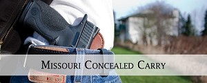 Missouri CCW Permit\Conceal Carry Class
